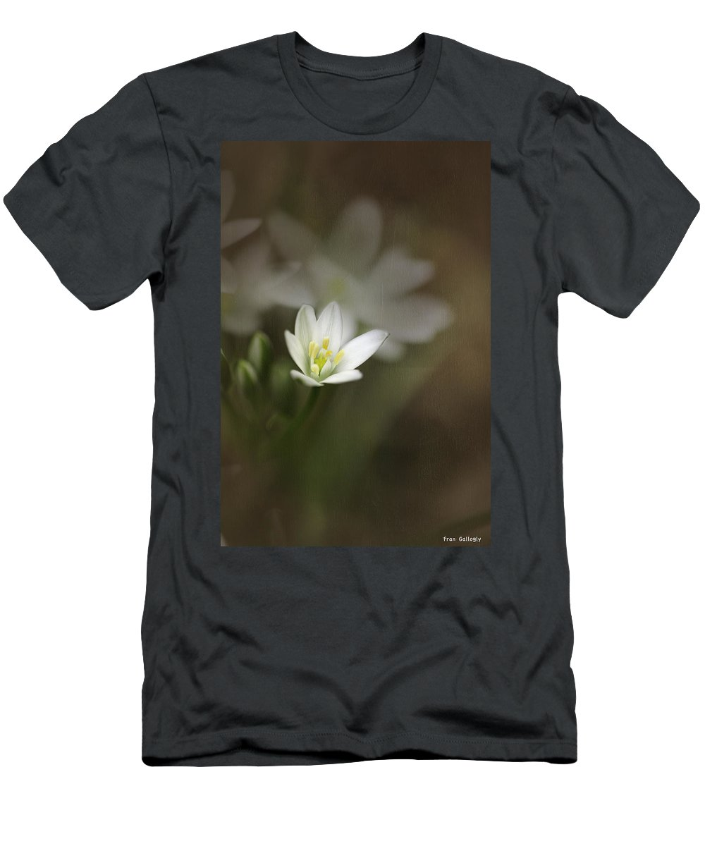 Flower Men's T-Shirt (Athletic Fit) featuring the photograph Star Of Bethlehem by Fran Gallogly