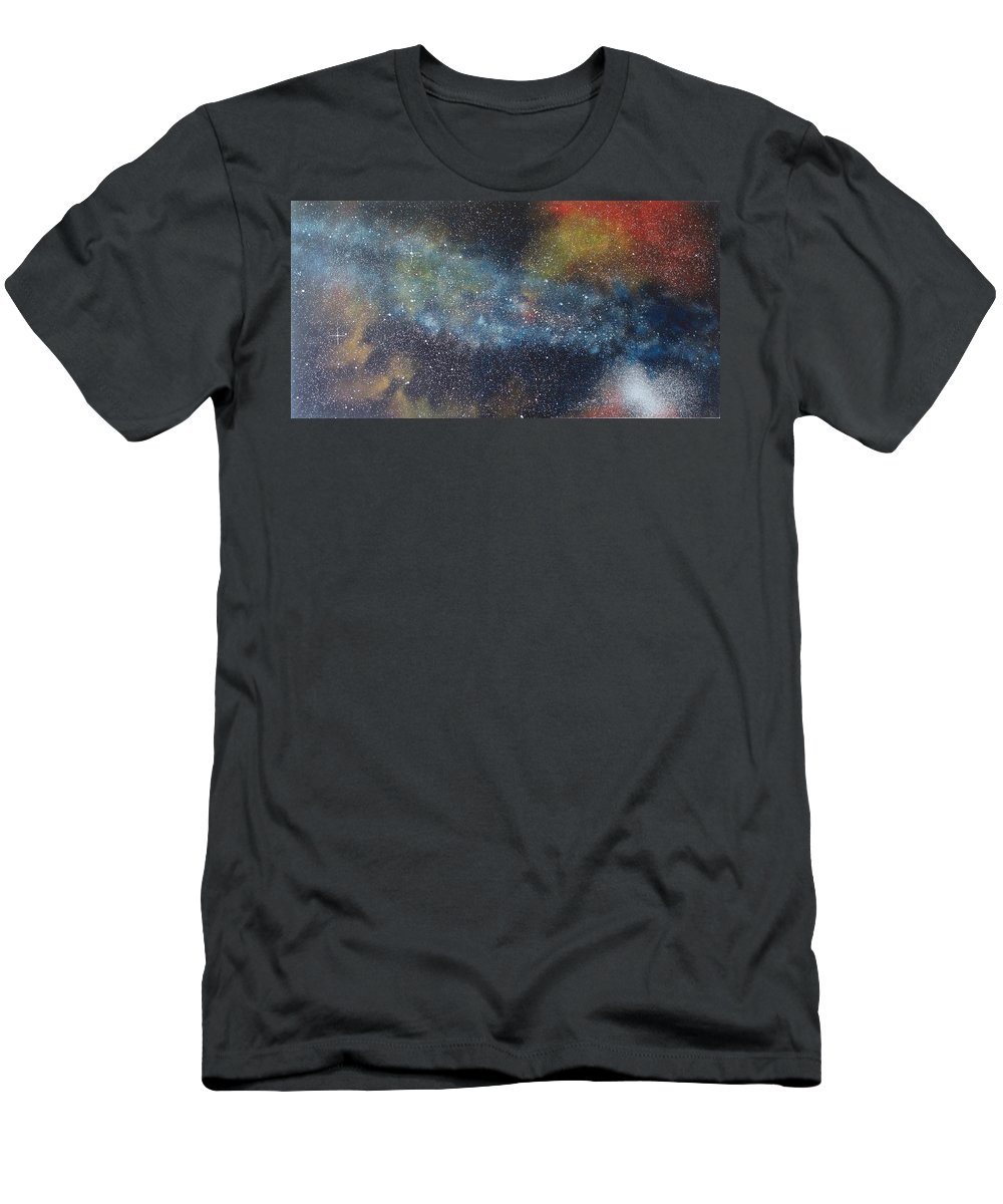 Oil Painting On Canvas T-Shirt featuring the painting Stargasm by Sean Connolly