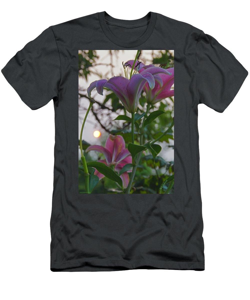 Stargazer Men's T-Shirt (Athletic Fit) featuring the photograph Stargazer Sunset by Mick Anderson