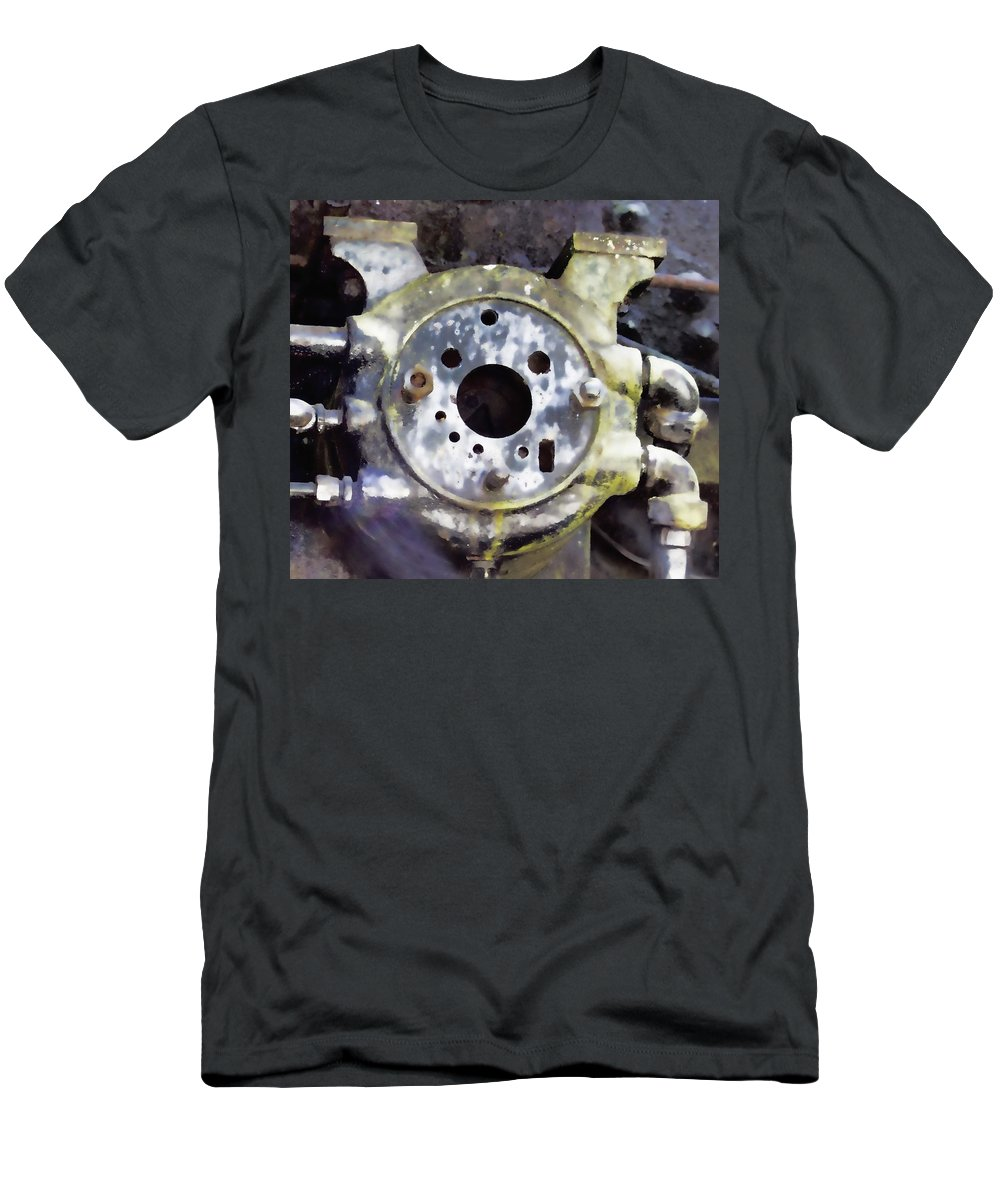Men's T-Shirt (Athletic Fit) featuring the photograph Steam Machine 2 by Cathy Anderson