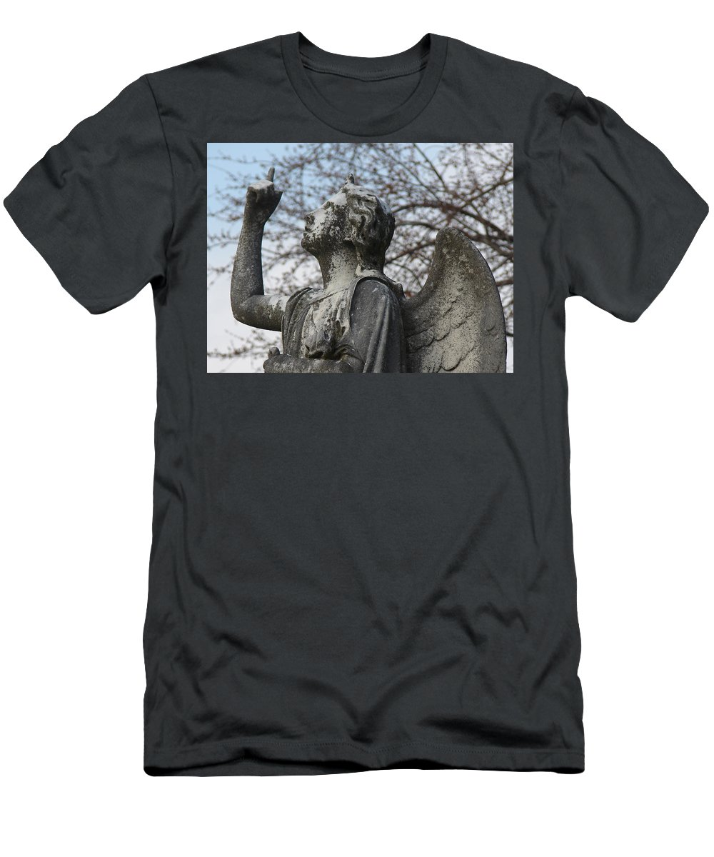 Angel Men's T-Shirt (Athletic Fit) featuring the photograph Stone Angel by Cassie Peters