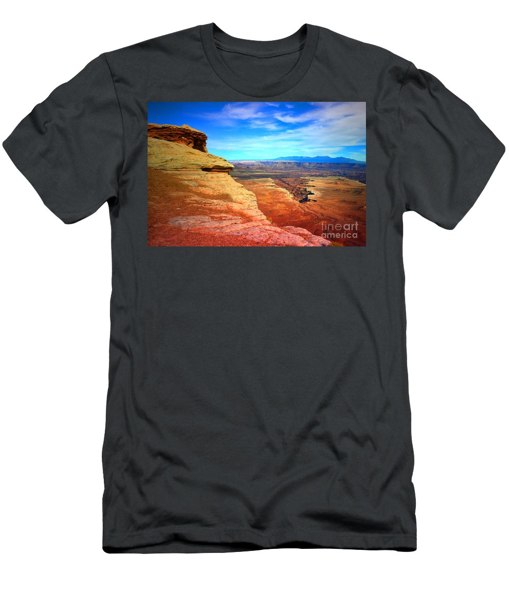 Sky Men's T-Shirt (Athletic Fit) featuring the photograph Stone - Sky - Colour by Tara Turner