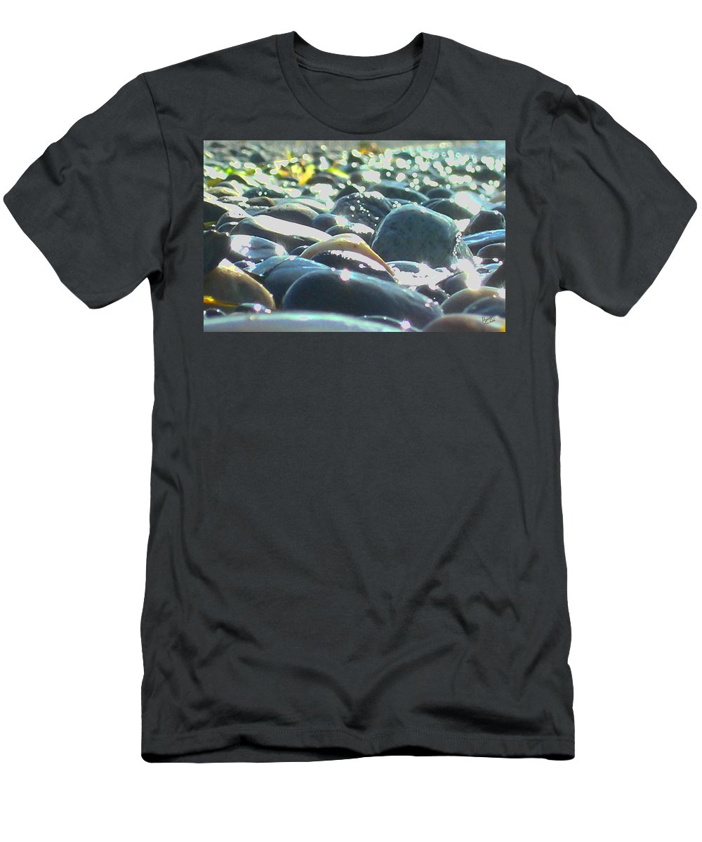 Stones Men's T-Shirt (Athletic Fit) featuring the photograph Stones 4 by Marcello Cicchini