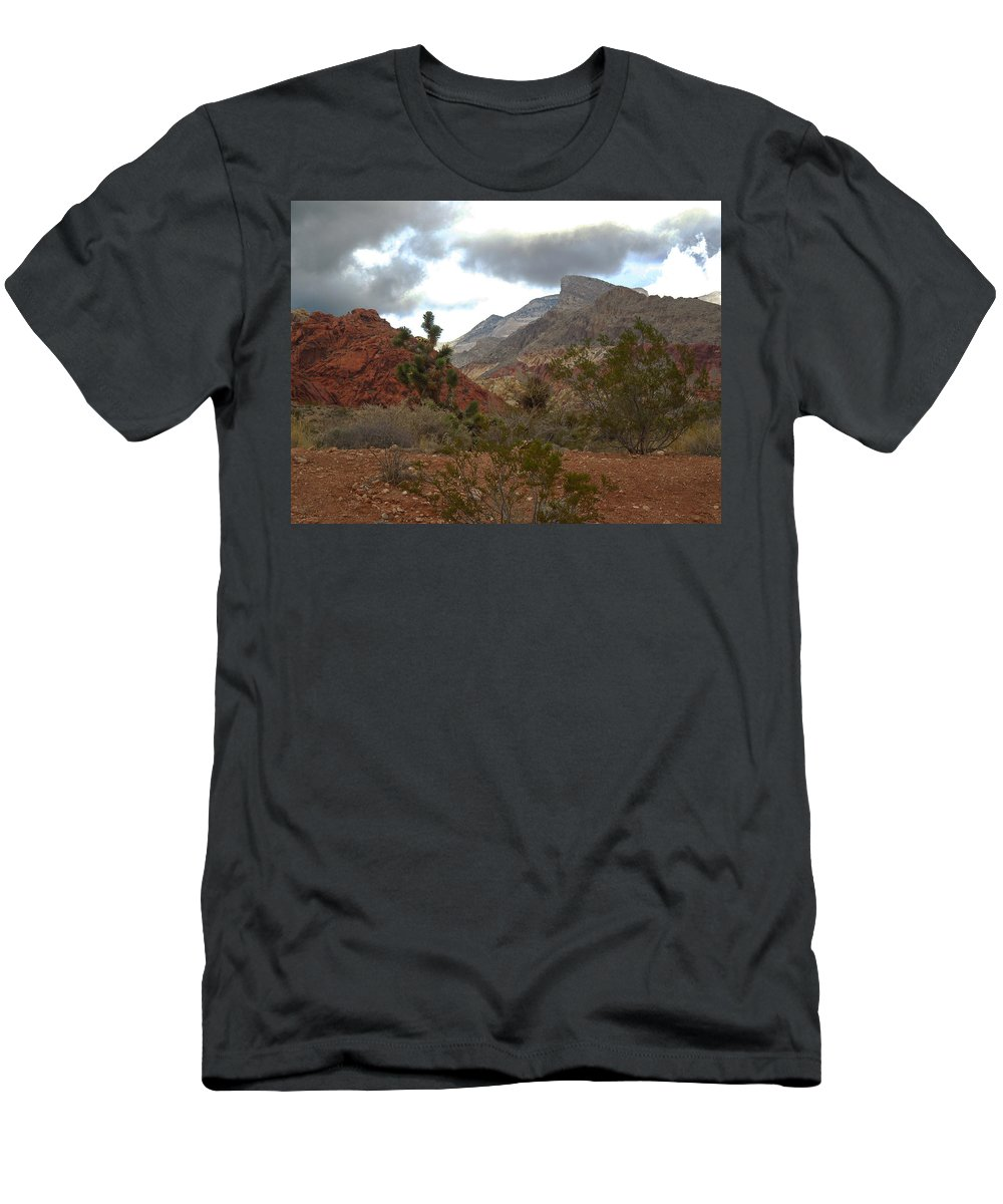 Red Men's T-Shirt (Athletic Fit) featuring the photograph Storm Threatening by Alan Socolik