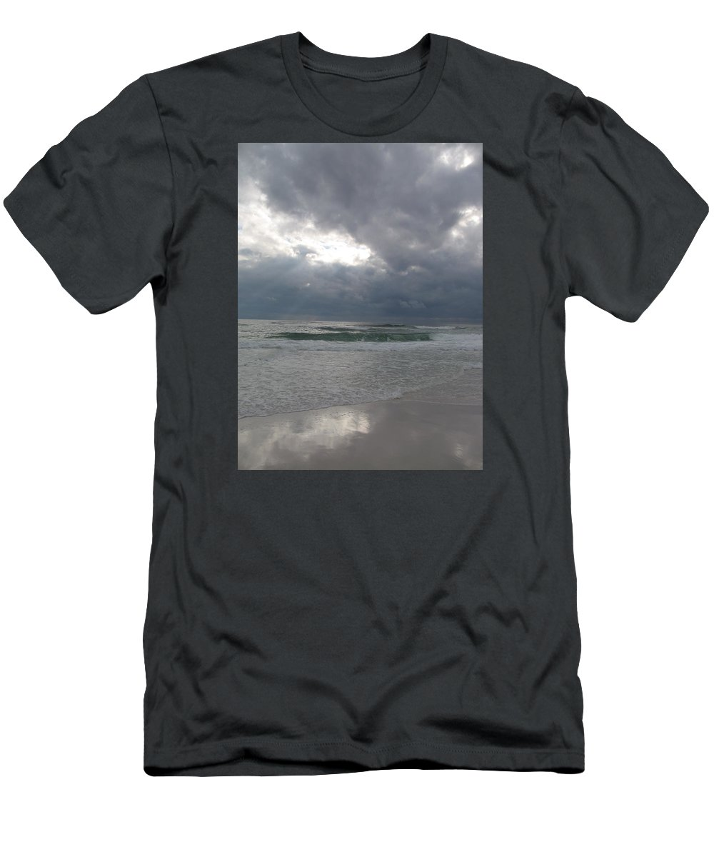 Clouds Men's T-Shirt (Athletic Fit) featuring the photograph Stormclouds Over The Sea by Christiane Schulze Art And Photography