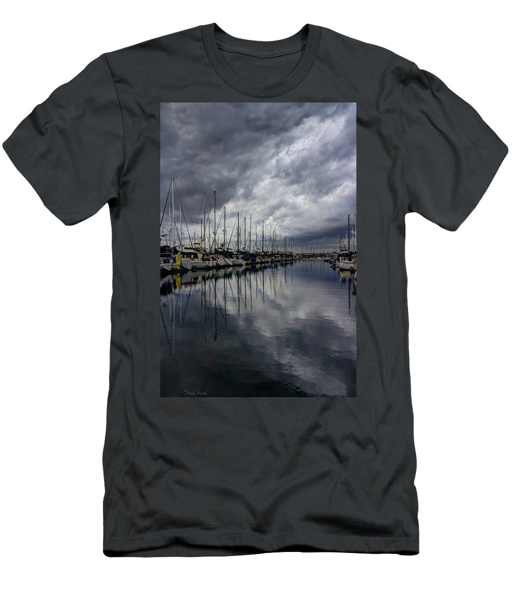 Dock Men's T-Shirt (Athletic Fit) featuring the photograph Storm's Approach by Heidi Smith