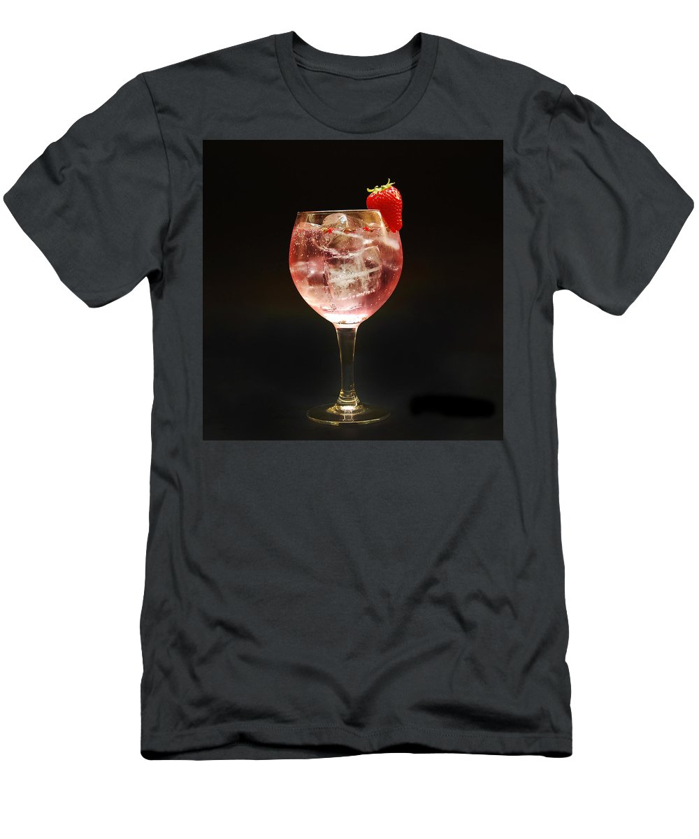 Strawberry Gintonic Men's T-Shirt (Athletic Fit) featuring the photograph Strawberry Gintonic by Gina Dsgn