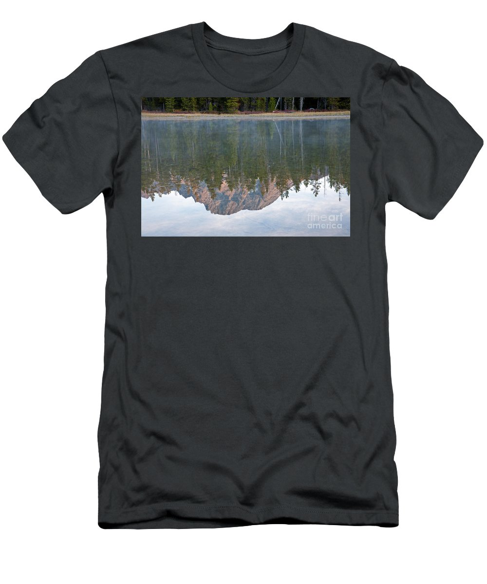 Grand Teton Np Men's T-Shirt (Athletic Fit) featuring the photograph String Lake Grand Teton National Park by Fred Stearns