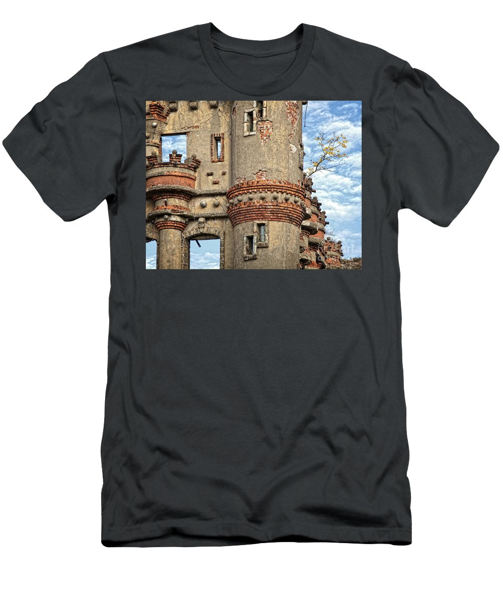 Bannermans Castle Men's T-Shirt (Athletic Fit) featuring the photograph Struggling To Survive by Claudia Kuhn