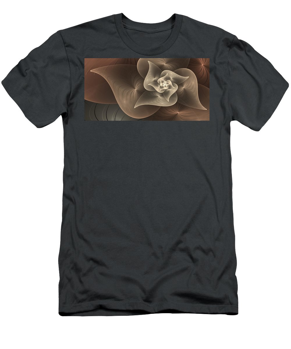 Digital Art Men's T-Shirt (Athletic Fit) featuring the digital art Stylized Philodendron Sepia by Gabiw Art