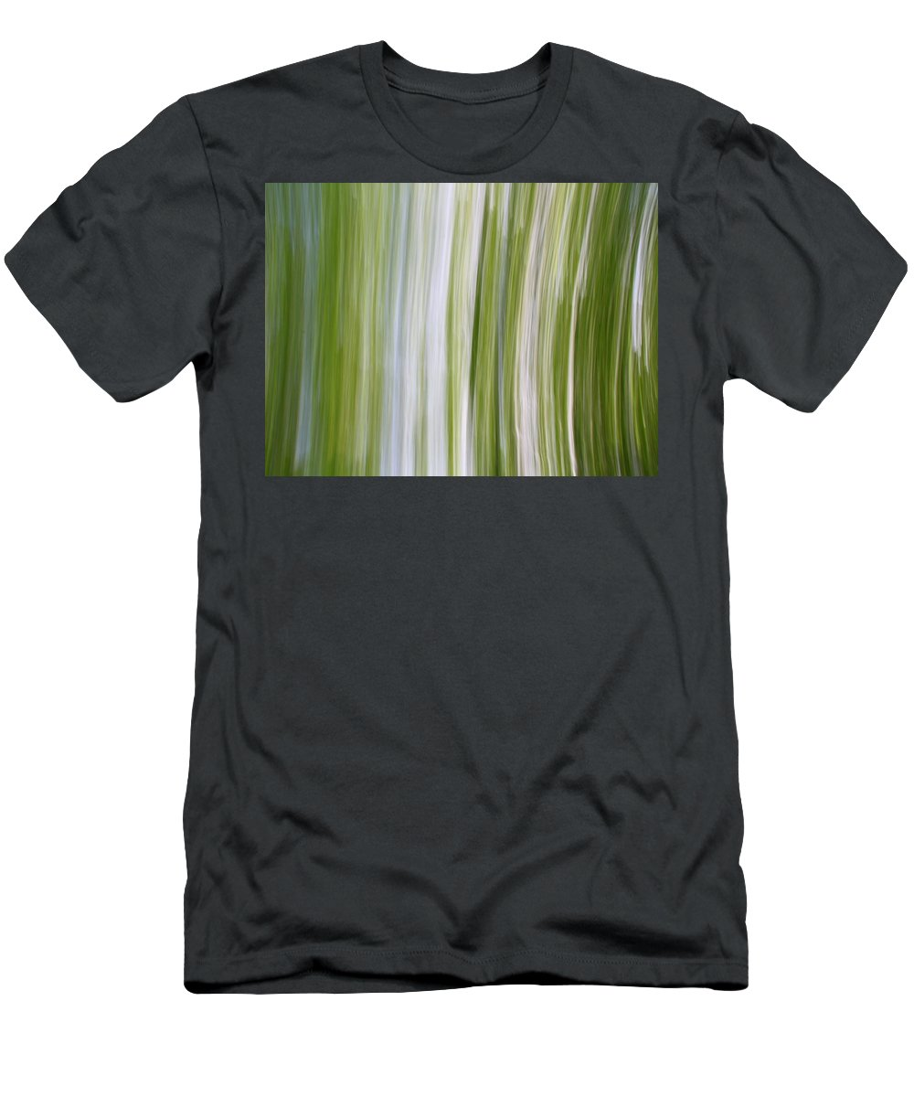 Green Fields Blue Skies Men's T-Shirt (Athletic Fit) featuring the photograph Summer Day Abstract by Dan Sproul