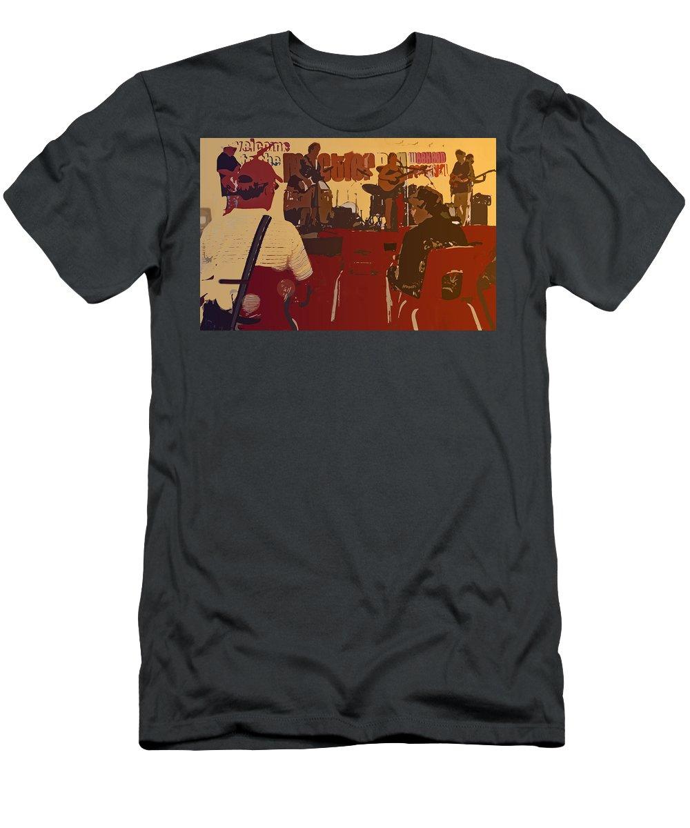 Guitars Men's T-Shirt (Athletic Fit) featuring the digital art Summer Festival by Ian MacDonald