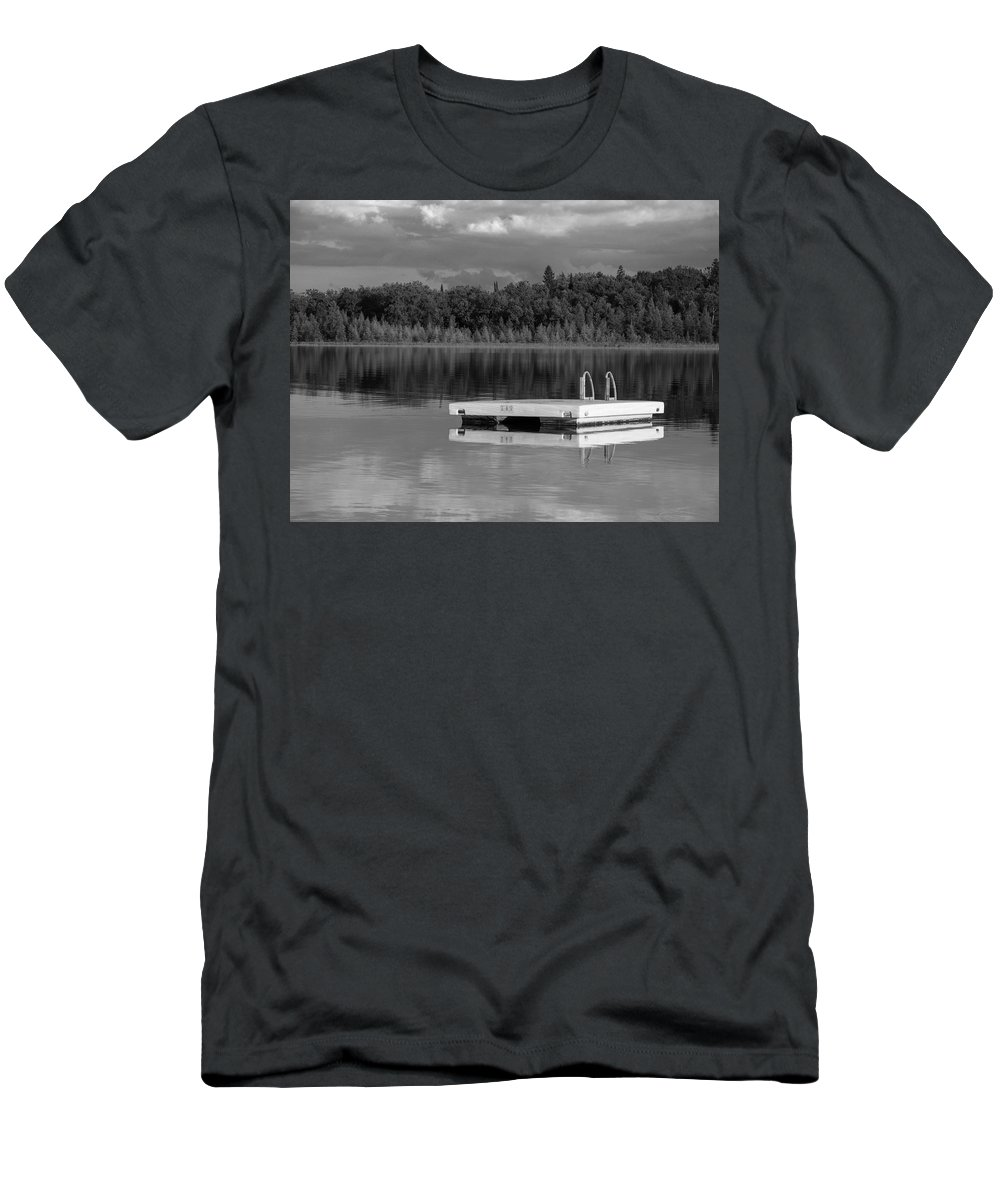 Summertime Men's T-Shirt (Athletic Fit) featuring the photograph Summertime Reflections by Don Spenner
