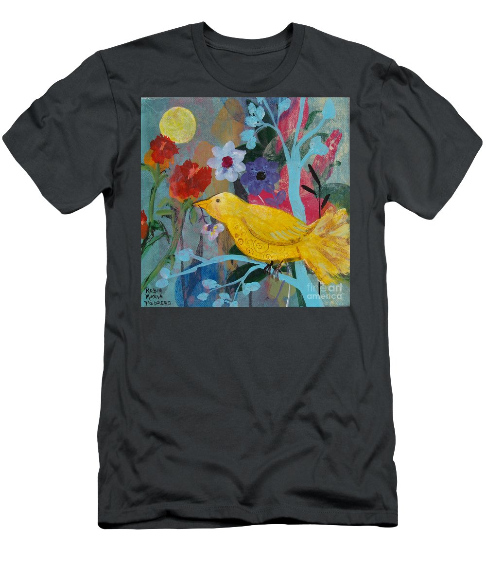 Sun Bearer Men's T-Shirt (Athletic Fit) featuring the painting Sun Bearer by Robin Maria Pedrero