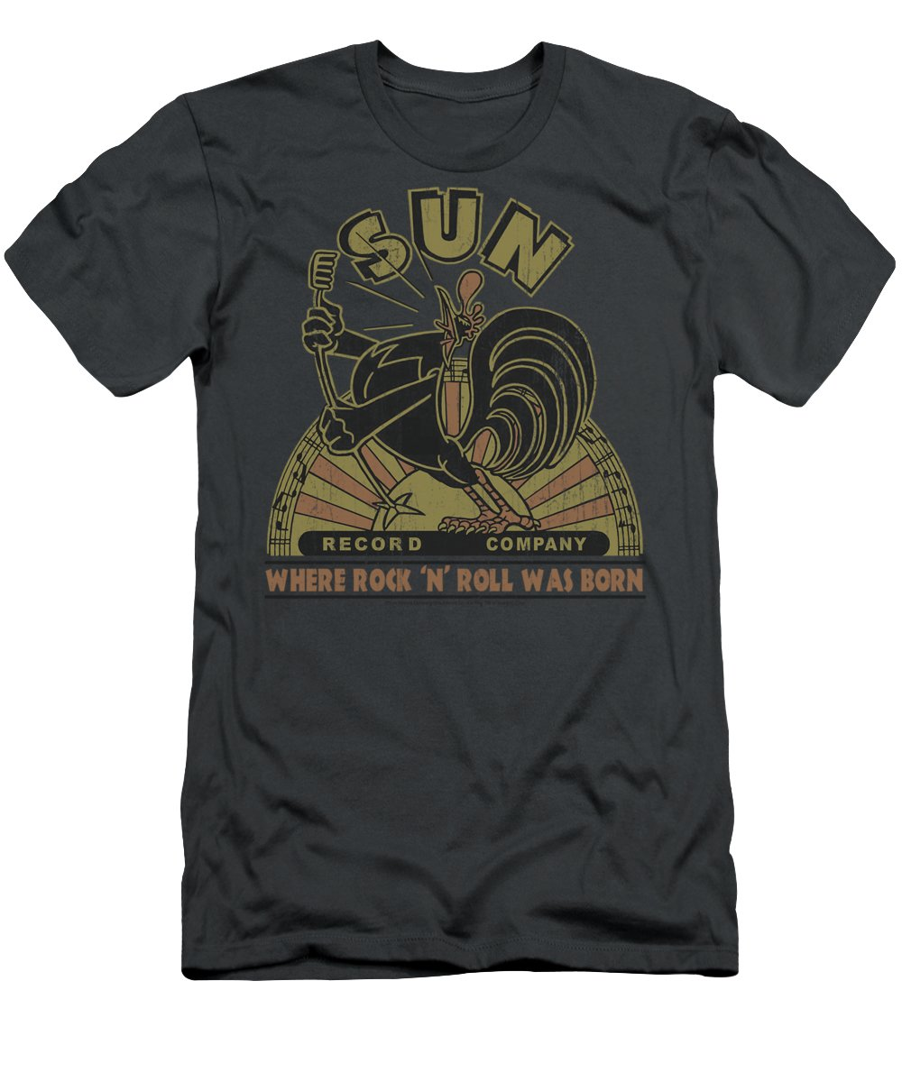 Sun Record Company T-Shirt featuring the digital art Sun - Sun Rooster by Brand A