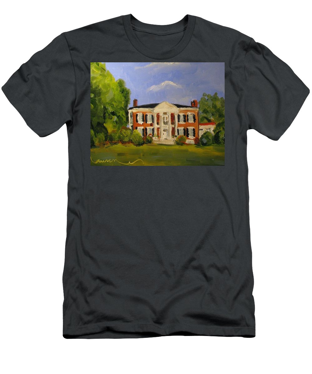 Historical Men's T-Shirt (Athletic Fit) featuring the painting Sunday Afternoon At Rippavilla by Susan Elizabeth Jones