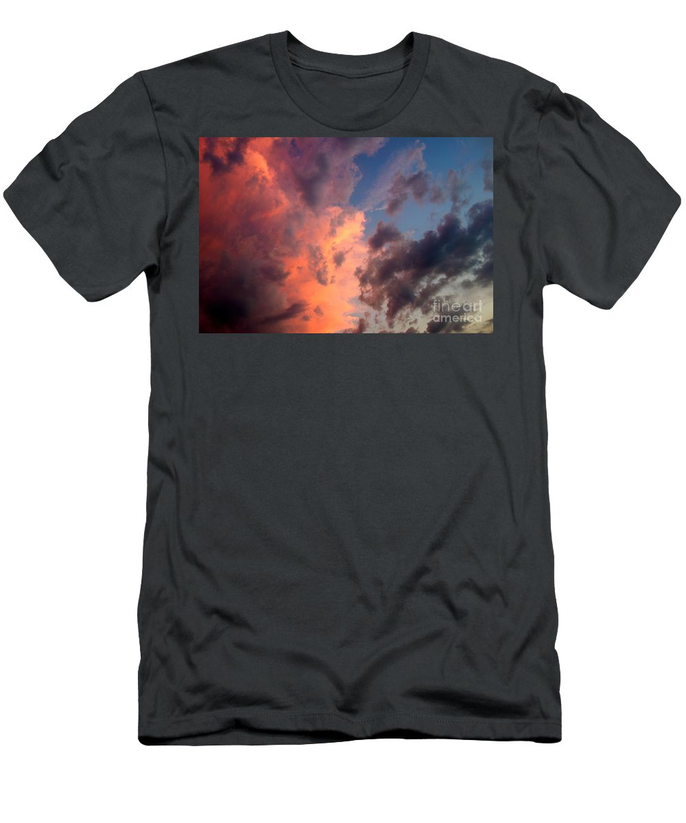 Sunset Men's T-Shirt (Athletic Fit) featuring the photograph Sunday Sunset by Jacqueline Athmann