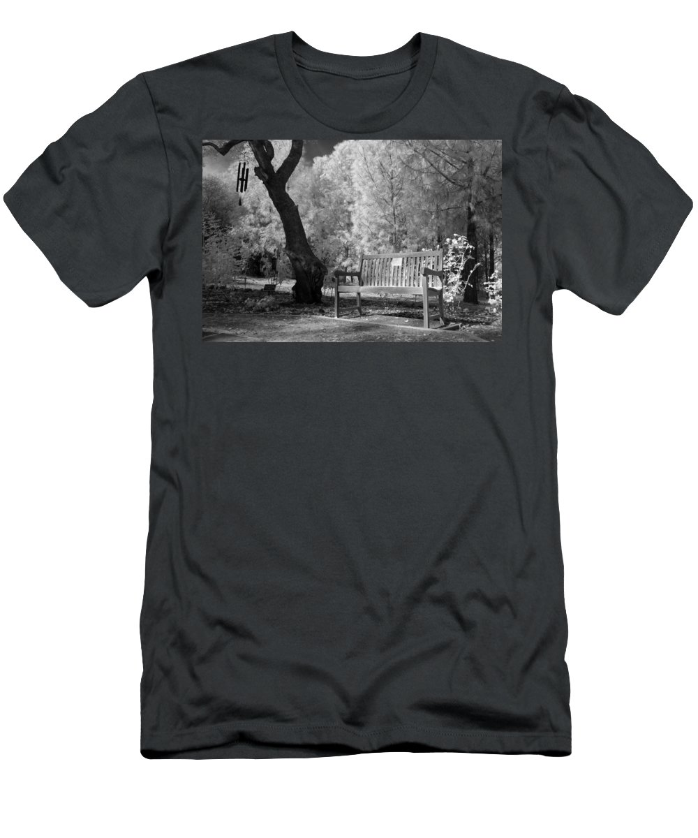 Men's T-Shirt (Athletic Fit) featuring the photograph Sunny Seat by Jennifer Ann Henry