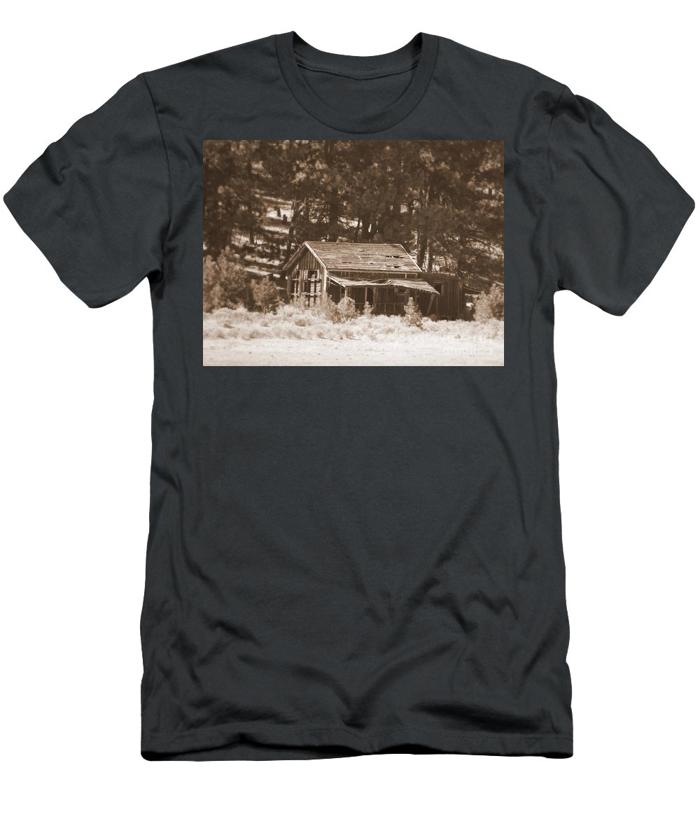 Homestead Men's T-Shirt (Athletic Fit) featuring the photograph Sunny With Two Porches by Carol Groenen
