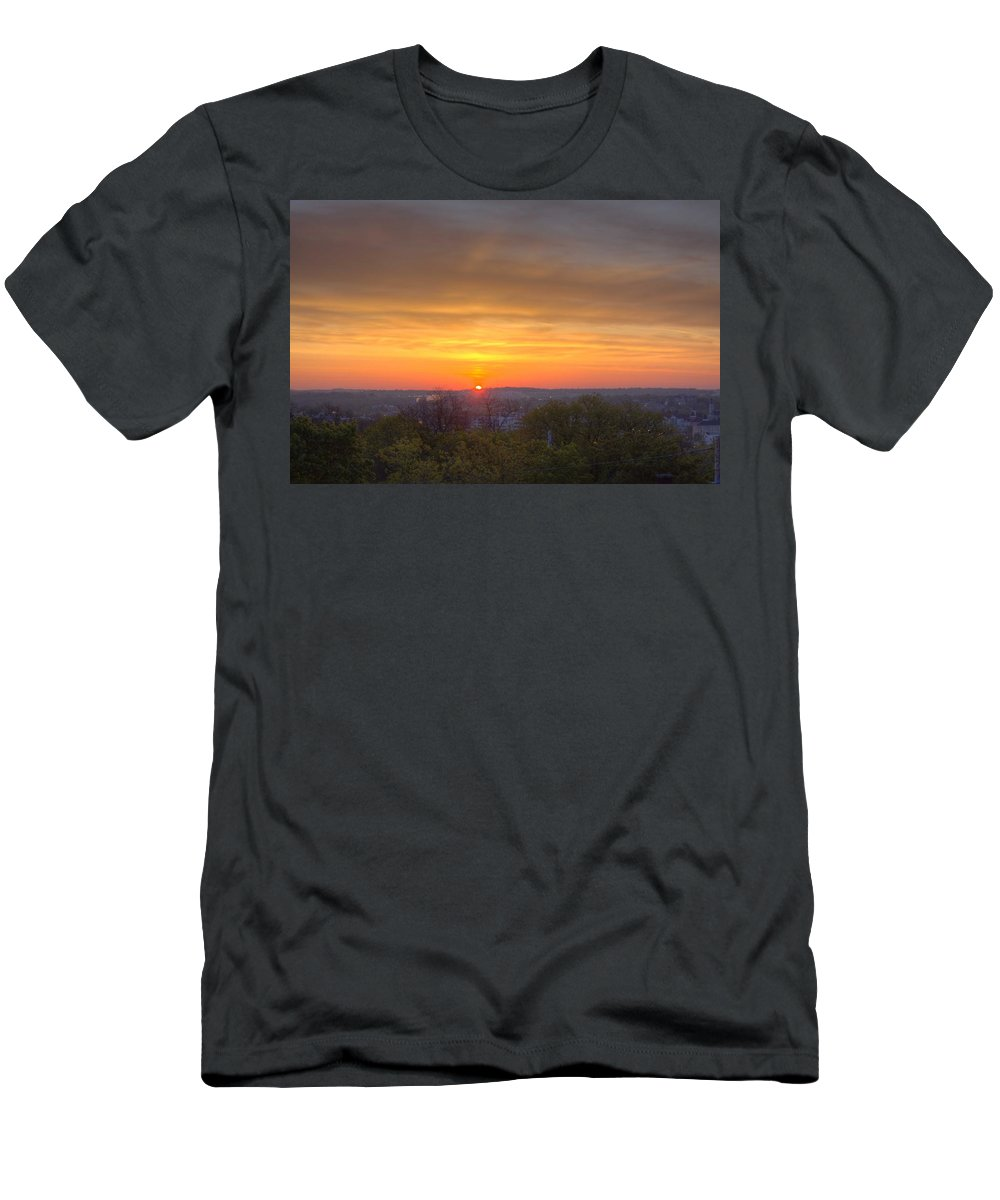 Sun Men's T-Shirt (Athletic Fit) featuring the photograph Sunrise by Daniel Sheldon