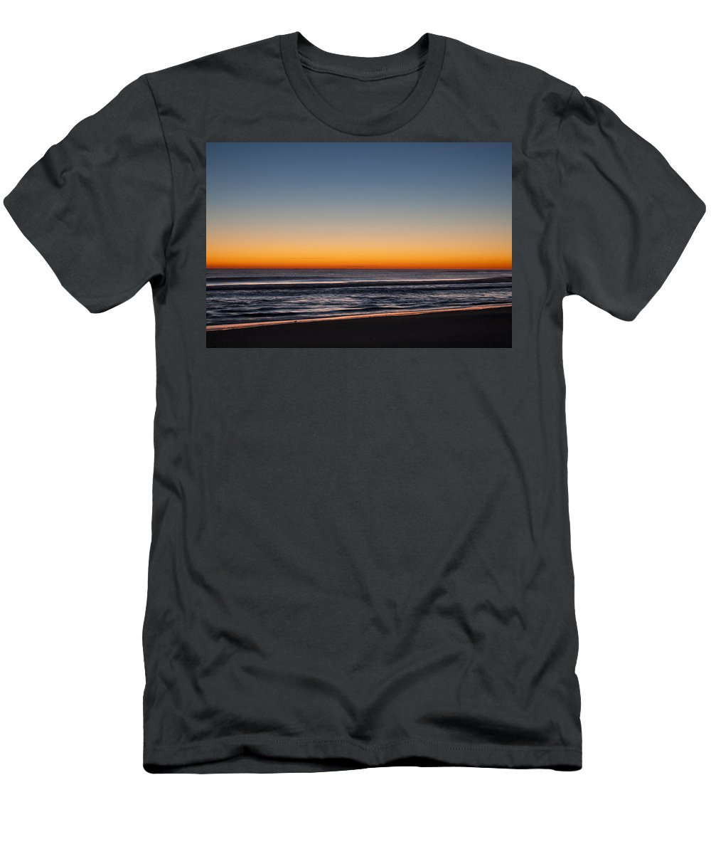 Sunrise Men's T-Shirt (Athletic Fit) featuring the photograph Sunrise Outer Banks Img 3652 by Greg Kluempers