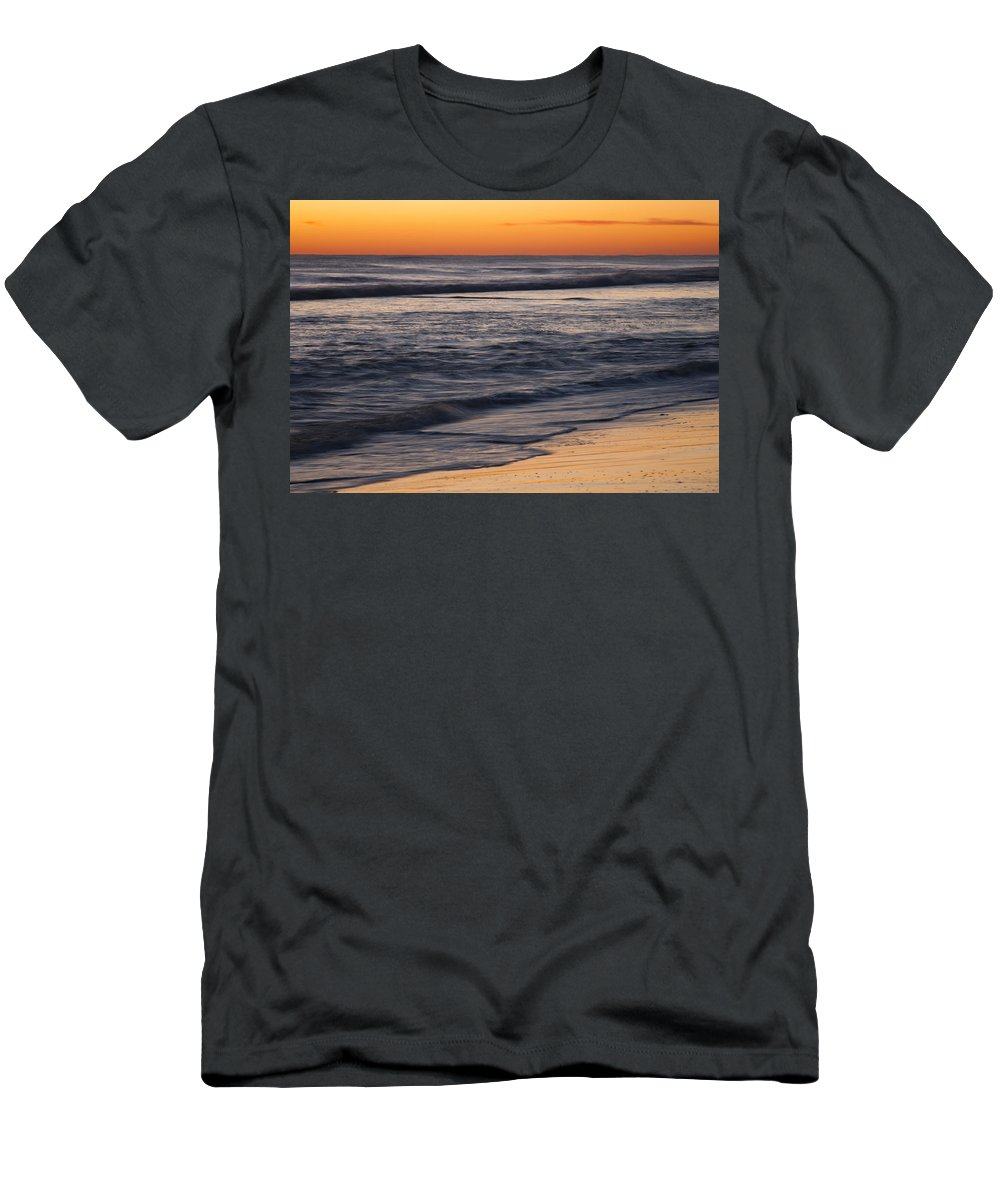 Sunrise Men's T-Shirt (Athletic Fit) featuring the photograph Sunrise Outer Banks Img 3664 by Greg Kluempers