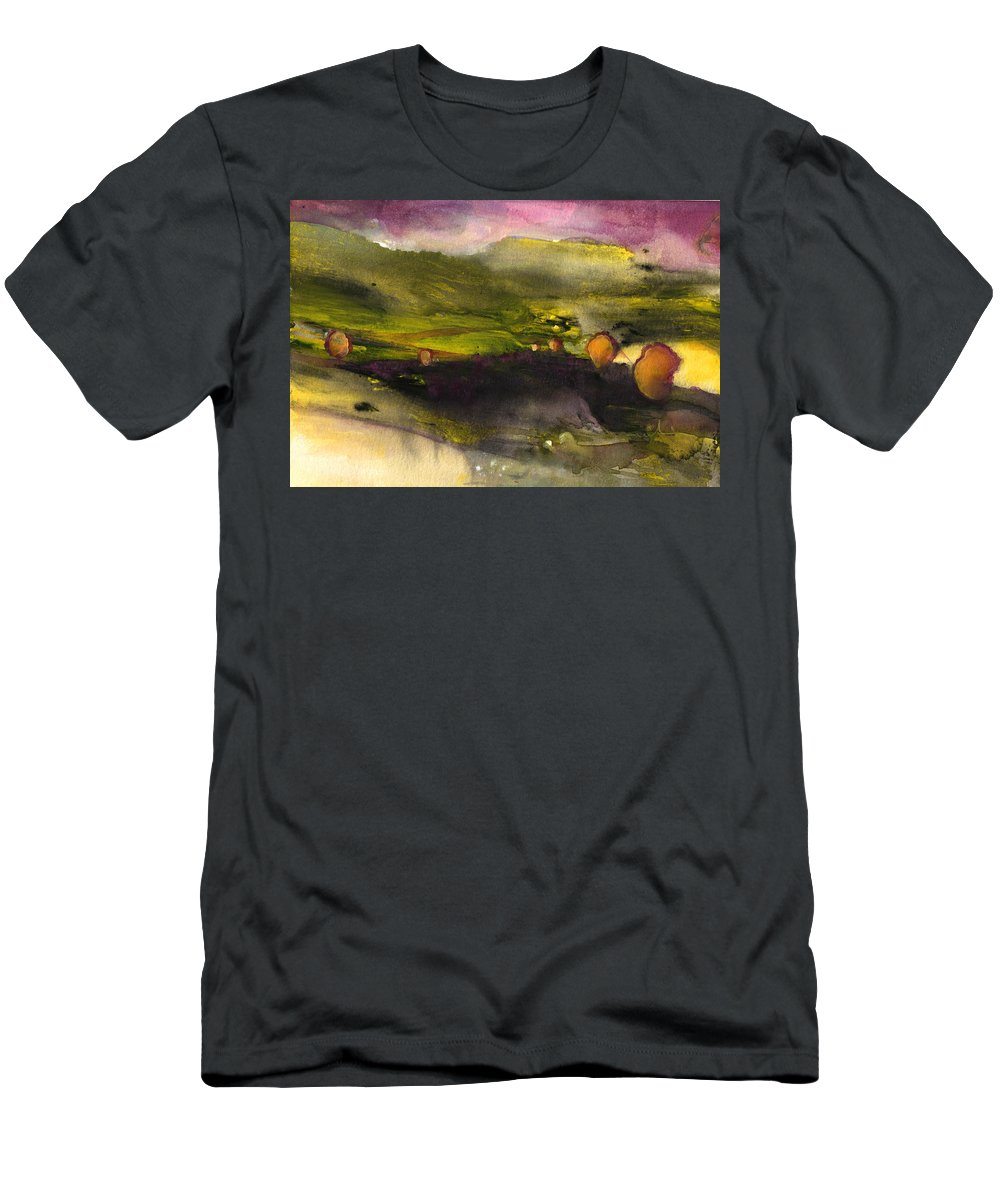 Sunset Men's T-Shirt (Athletic Fit) featuring the painting Sunset 50 by Miki De Goodaboom