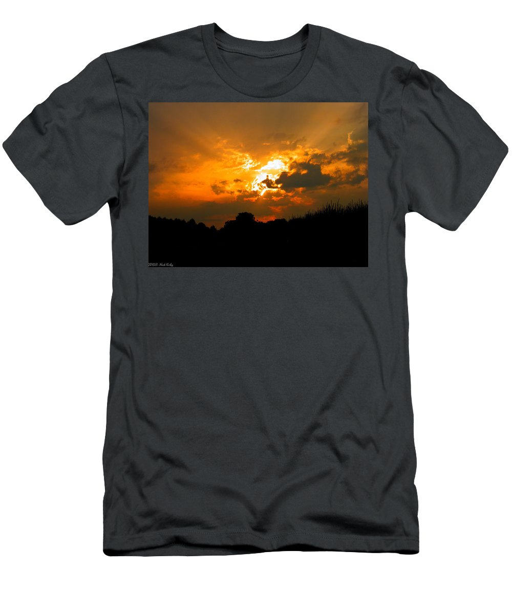 Sun Men's T-Shirt (Athletic Fit) featuring the photograph Sunset Angel by Nick Kirby