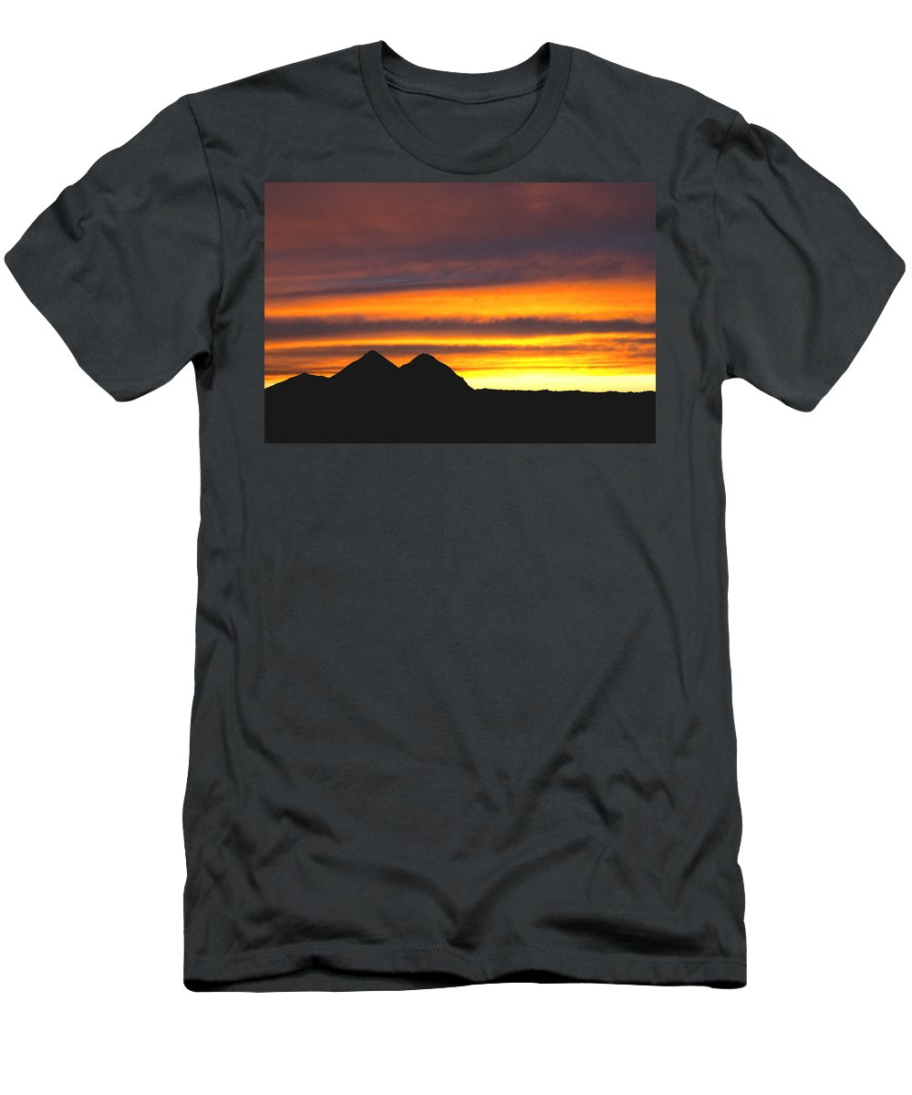 Sunset Men's T-Shirt (Athletic Fit) featuring the photograph Sunset Death Valley Rectangular Img 0283 by Greg Kluempers
