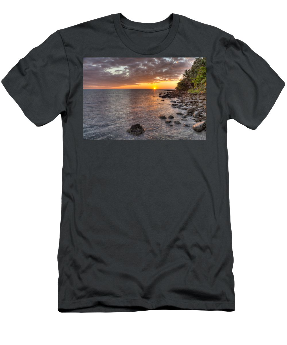 Sunset Men's T-Shirt (Athletic Fit) featuring the photograph Sunset In Paradise by Alexey Stiop