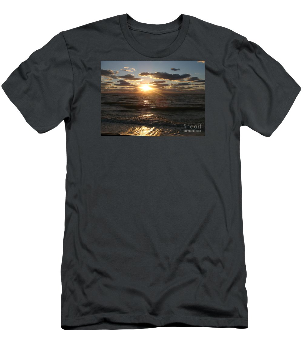 Sunset Men's T-Shirt (Athletic Fit) featuring the photograph Sunset On Venice Beach by Christiane Schulze Art And Photography