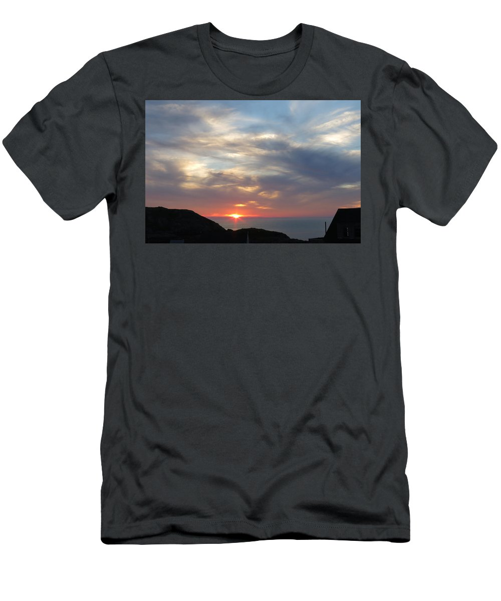 Sunset T-Shirt featuring the photograph Sunset Over Maine by Jean Macaluso