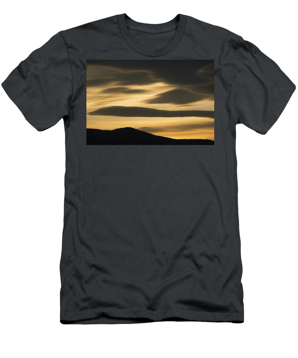 Feb0514 Men's T-Shirt (Athletic Fit) featuring the photograph Sunset Painted Hills John Day Nm Oregon by Kevin Schafer