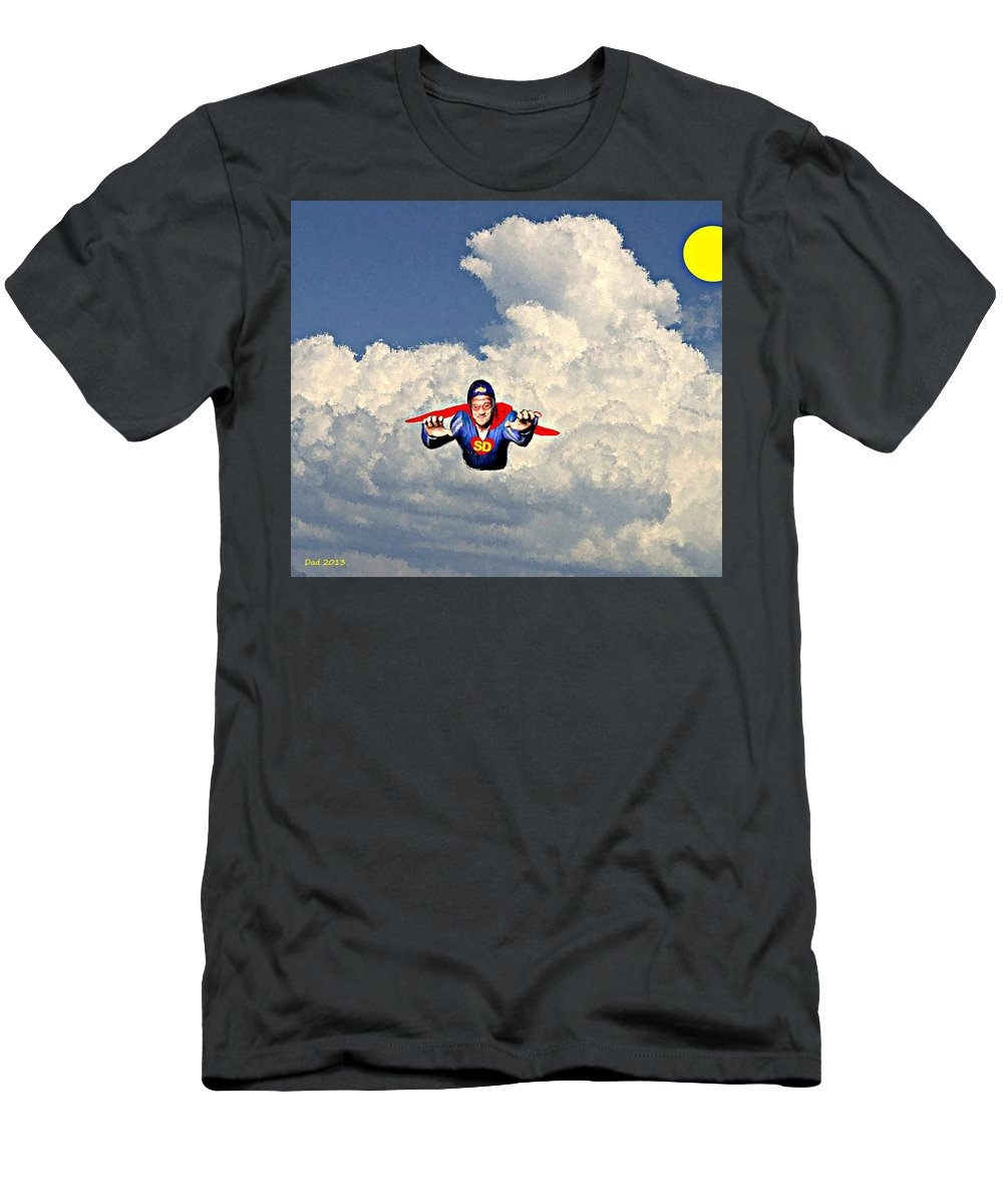 Super Men's T-Shirt (Athletic Fit) featuring the painting Super David by Bruce Nutting