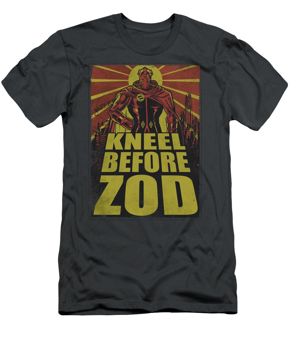 Superman T-Shirt featuring the digital art Superman - Zod Poster by Brand A