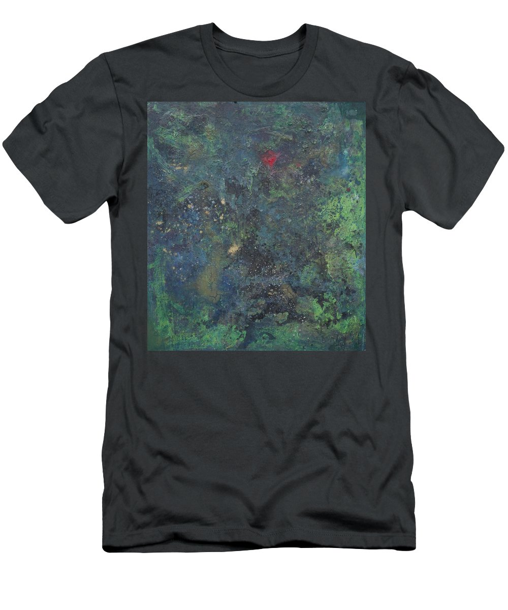 Astral Men's T-Shirt (Athletic Fit) featuring the painting Supernova Number Four by Laurie Maves ART