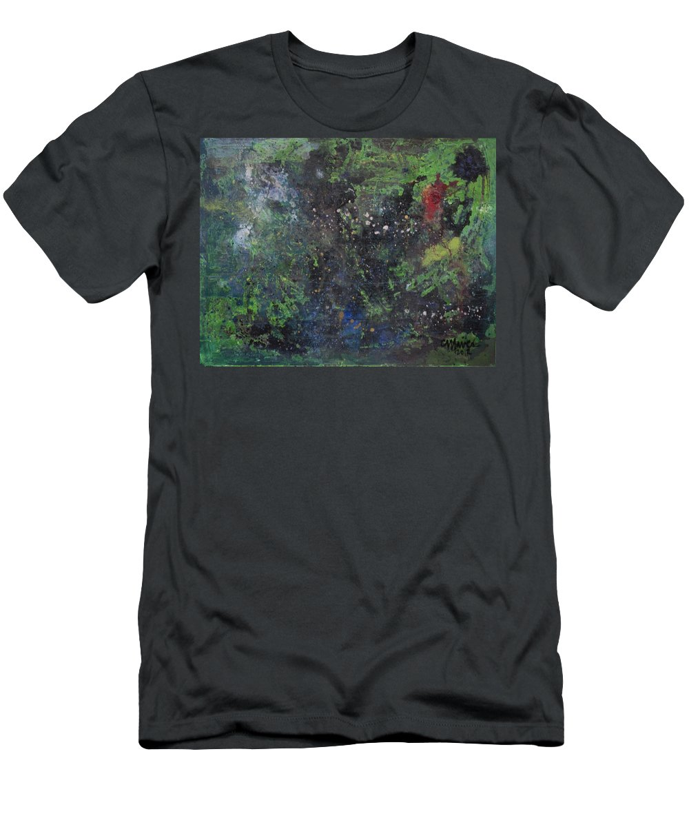 Astral Men's T-Shirt (Athletic Fit) featuring the painting Supernova Number Three by Laurie Maves ART