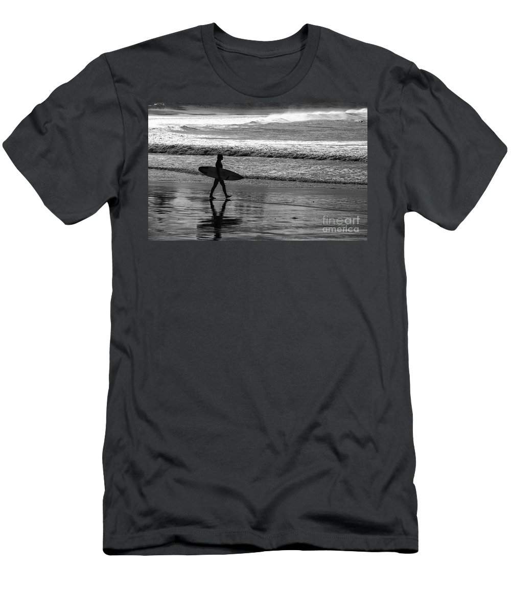 Surfer T-Shirt featuring the photograph Surfer at Palm Beach by Sheila Smart Fine Art Photography