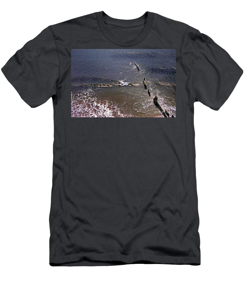 Lighthouses Men's T-Shirt (Athletic Fit) featuring the photograph Surfing In Historys Shadow by Skip Willits