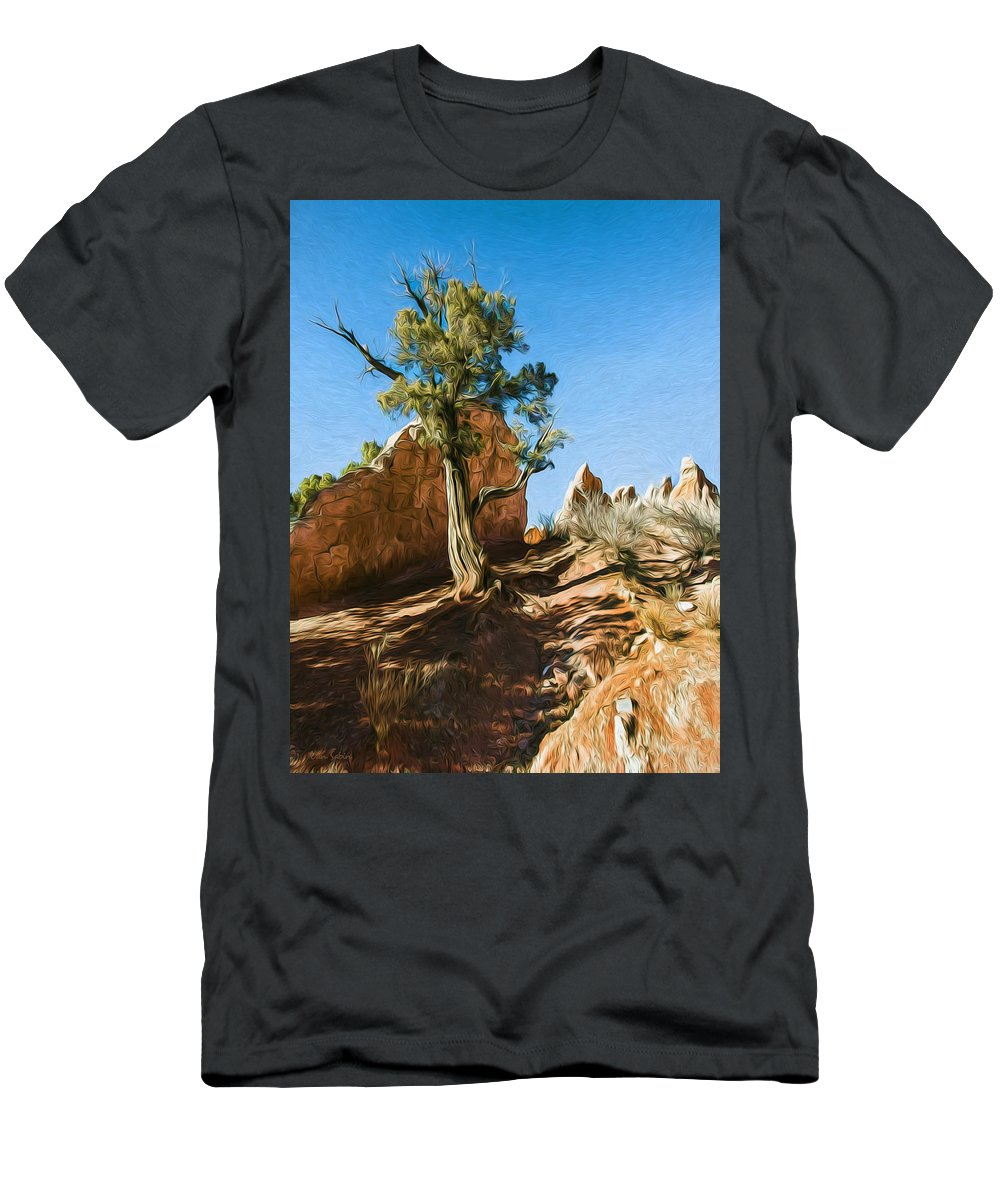 Dan Sabin Men's T-Shirt (Athletic Fit) featuring the photograph Survivor by Dan Sabin