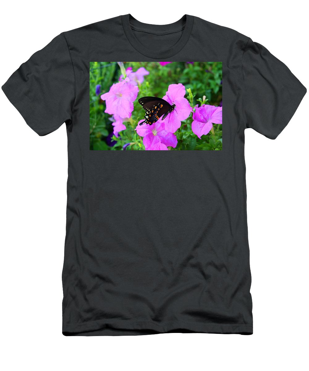 Swallowtail Men's T-Shirt (Athletic Fit) featuring the photograph Swallowtail by Kathryn Meyer