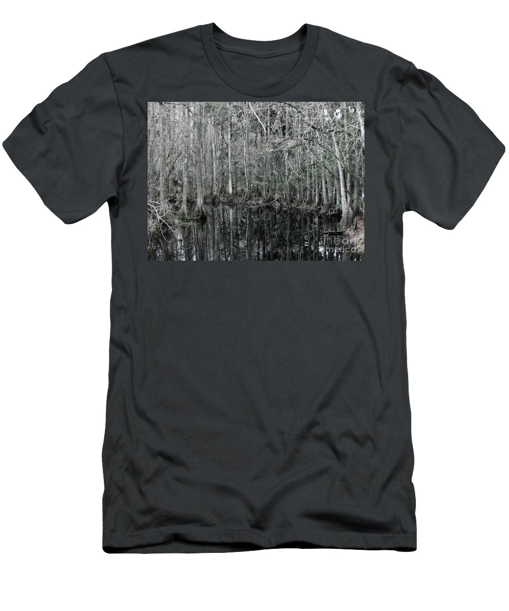 Keri West Men's T-Shirt (Athletic Fit) featuring the photograph Swamp Greens by Keri West