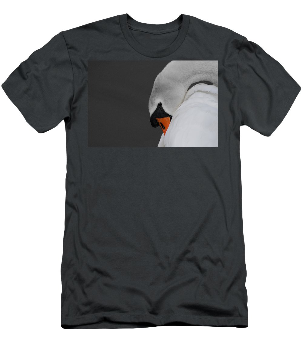 Swan Men's T-Shirt (Athletic Fit) featuring the photograph Swan by Scott Carruthers