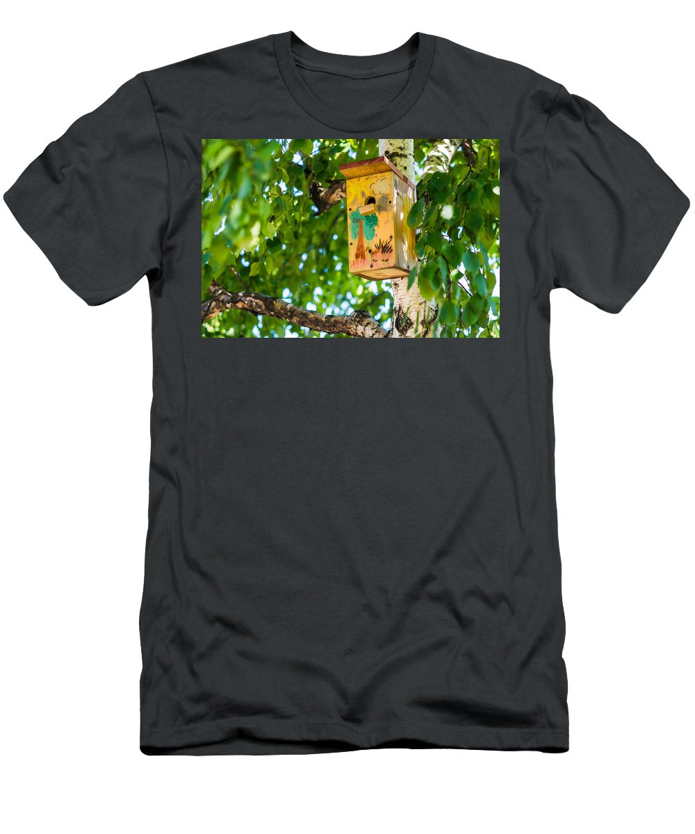 Animal Men's T-Shirt (Athletic Fit) featuring the photograph Sweet Home by Alexander Senin