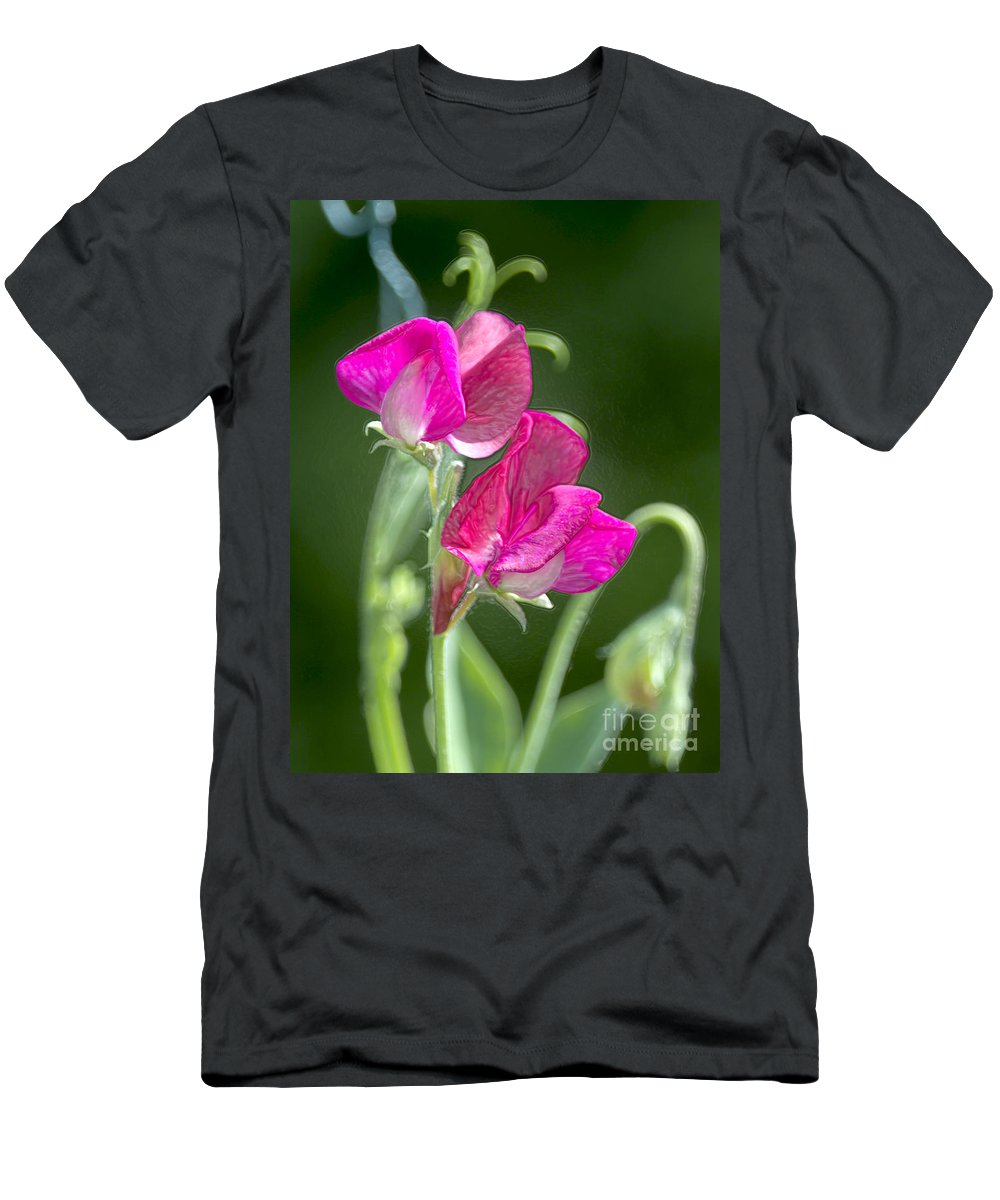 Sweet Peas Men's T-Shirt (Athletic Fit) featuring the photograph Sweet Peas by Sharon Talson