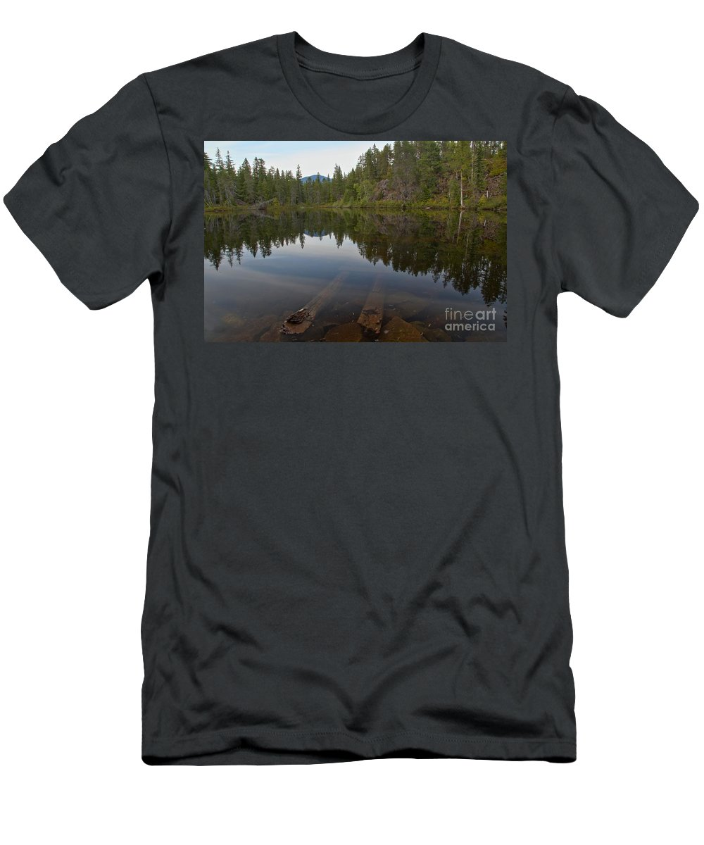 Swim Lake Men's T-Shirt (Athletic Fit) featuring the photograph Swim Lake by Adam Jewell