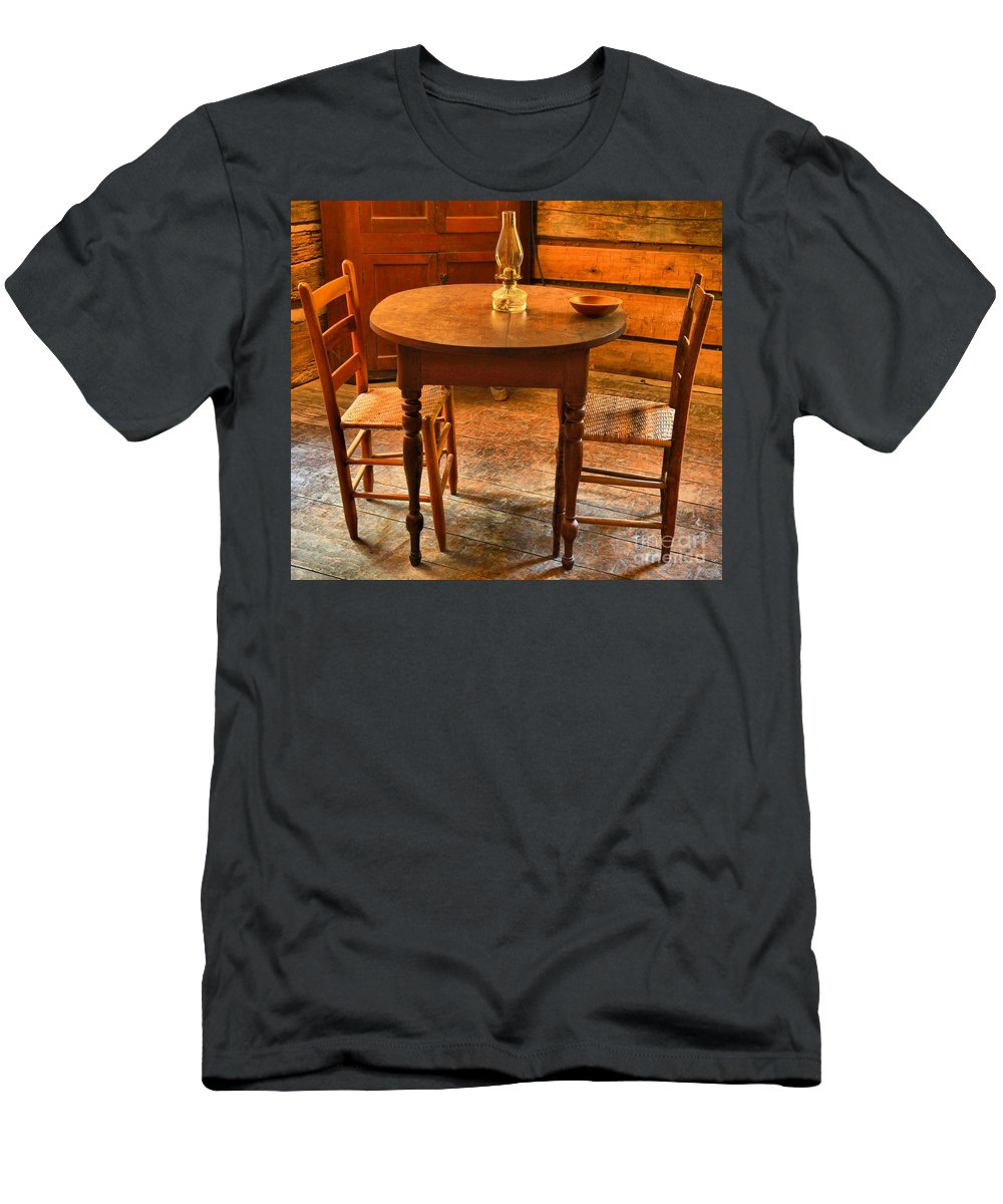 Table For Two Men's T-Shirt (Athletic Fit) featuring the photograph Table For Two by Adam Jewell
