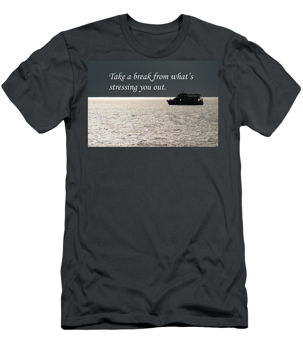 Habits And Patterns Men's T-Shirt (Athletic Fit) featuring the photograph Take A Break From by Pharaoh Martin