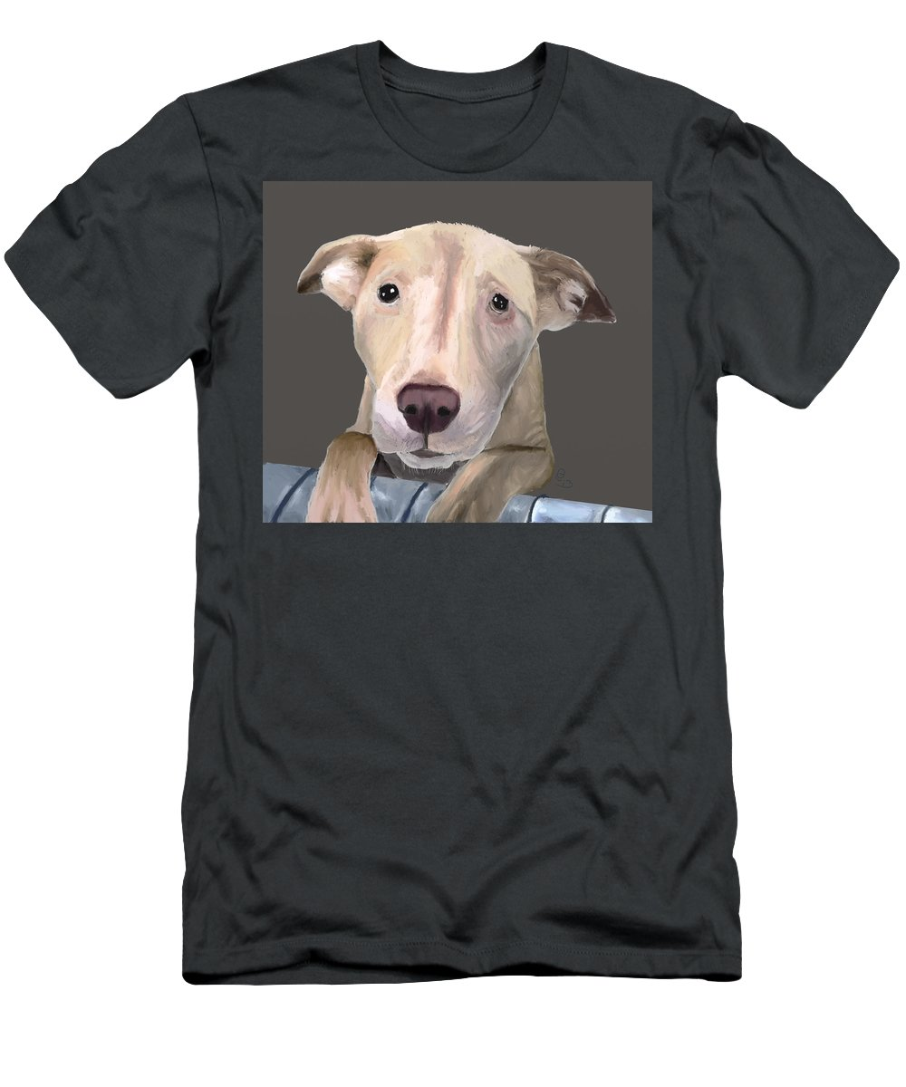 Dog Men's T-Shirt (Athletic Fit) featuring the pastel Take Me Home by G Cannon