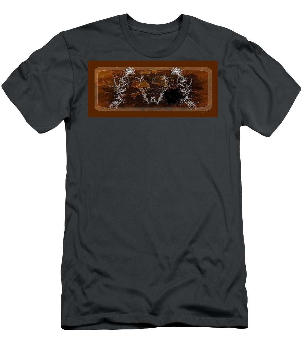 Fractal Men's T-Shirt (Athletic Fit) featuring the digital art Take The Bull By Its Horns by Ericamaxine Price